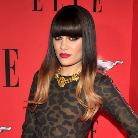 Jessie J's black and copper dip dye