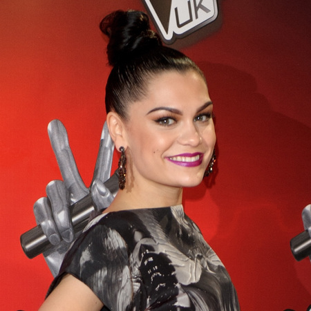 Jessie J's tight topknot