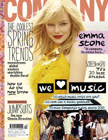 Emma Stone on cover of Company April 2013 issue