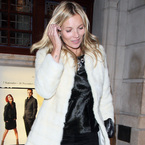 COAT CRUSH: Kate Moss' fluffy coat at Comic Relief gala