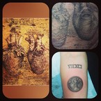 Miley Cyrus has a new da Vinci tattoo