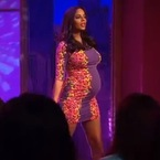 Rochelle Humes shows off big baby bump in Topshop bodycon