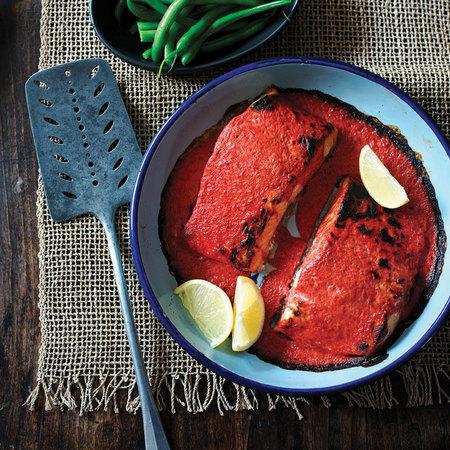 Tandoori Salmon Flora Cuisine recipe