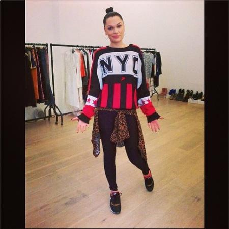 Jessie J in neon sportswear
