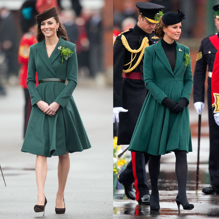 Kate Middleton wears Emilia Wickstead coat at St Patrick's Day parade