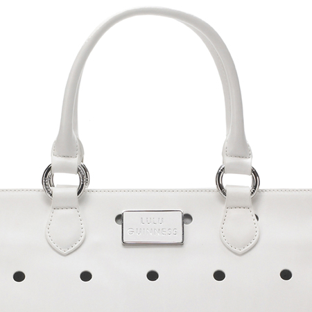 lulu guinness' amelia tote bag collection for spring/summer 2013 white spotty