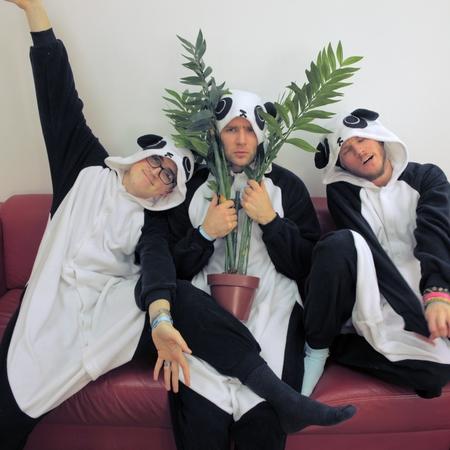 Mcfly in panda onesies