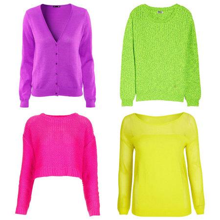 Neon knitwear trend