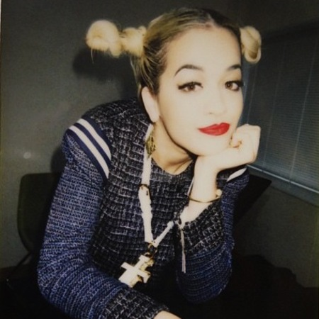 Rita Ora backstage in Japan