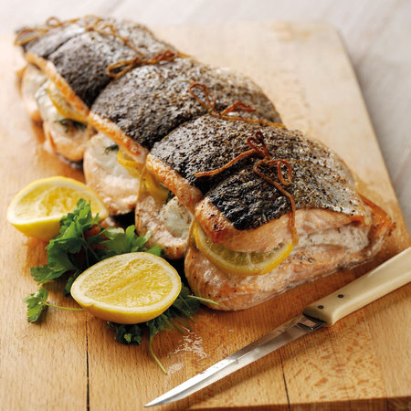 Salmon stuffed with cod by Asda recipe