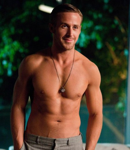 Ryan Gosling topless in Crazy, Stupid, Love