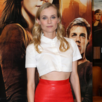 Diane Kruger flashes abs in cropped Carven shirt
