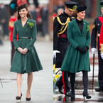 Pregnant Kate Middleton recycles Emilia Wickstead coat