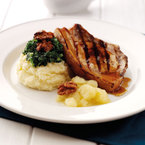 James Martin Recipe: Pork chop with spring greens