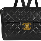 SHOP! Vintage Chanel quilted leather backpack