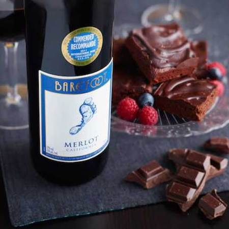 Red wine chocolate brownies Easter recipe