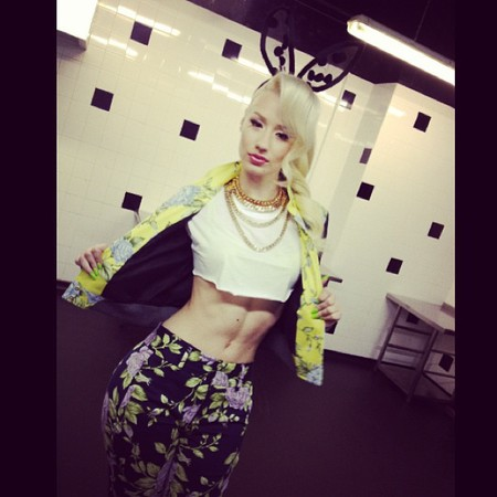 Iggy Azalea abs and bunny ears