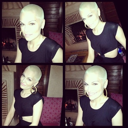 Jessie J dyes her new hair blonde