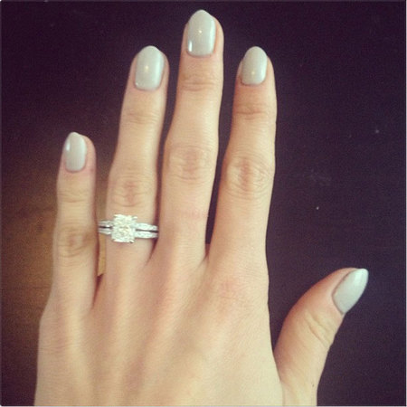 Millie Mackintosh shows off shellac nails