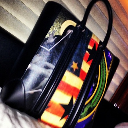 Givenchy flag print handbag