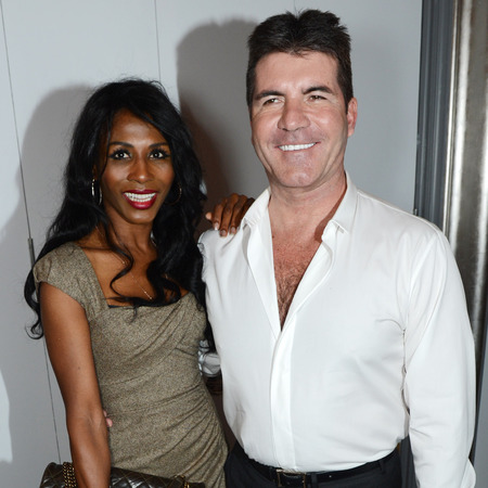 Sinitta and Simon Cowell attend the Health Lottery champagne tea at Claridges