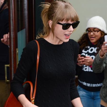 Taylor Swift with Mark Cross Scottie Satchel Bag