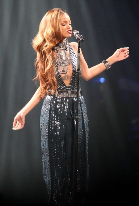 Rihanna wears custom Lanvin on Diamonds World Tour