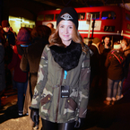 Millie Mackintosh layers up for Professor Green gig