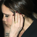Victoria Beckham does red oxblood colour nails