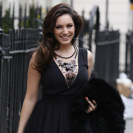 Kelly Brook in London for Celebrity Juice filming