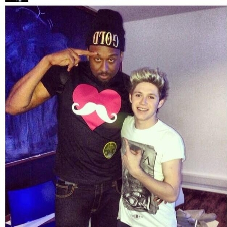 Niall Horan in the studio to visit Miley Cyrus