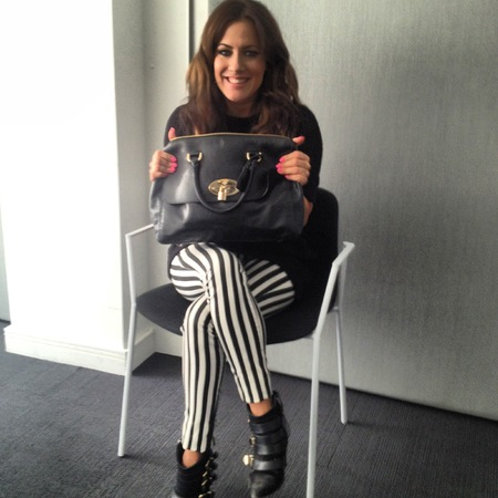 Caroline Flack with Mulberry Del Rey