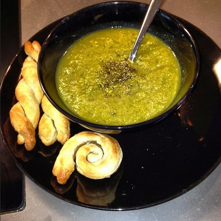 Jessie J's homemade soup