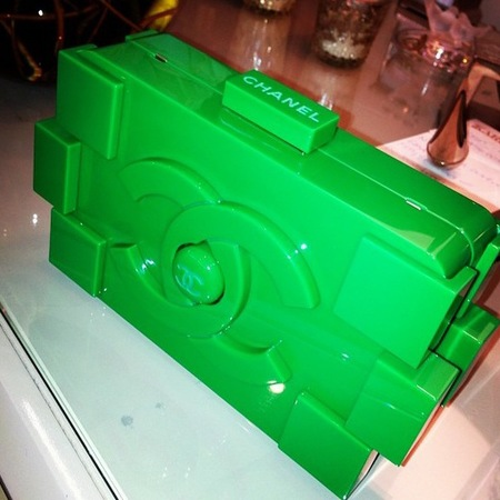 Kim Kardashian Chanel Lego clutch bag