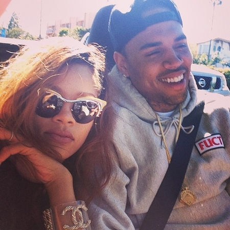 Rihann and Chris Brown loved up in LA