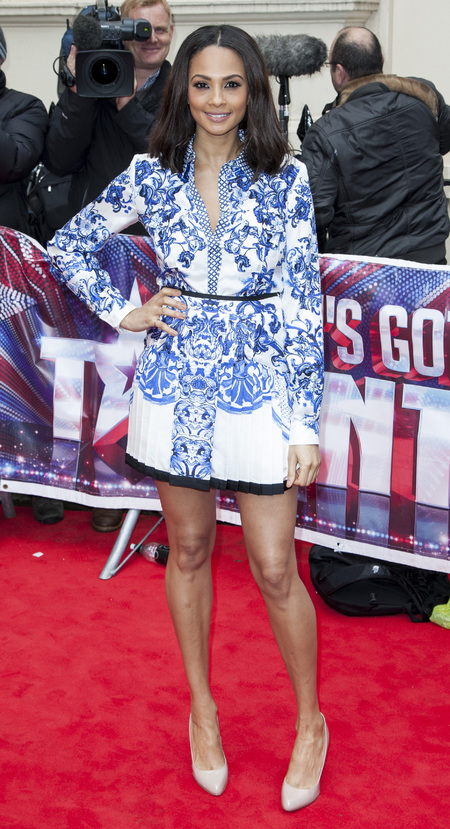 Alesha Dixon wears Roberto Cavalli prints at Britain's Got Talent launch