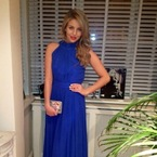 Lydia Bright wows in blue Bella Sorella ball gown