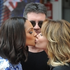 Amanda Holden and Alesha Dixon kiss