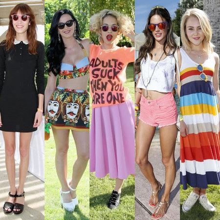 Celeb style at Coachella festival 2013