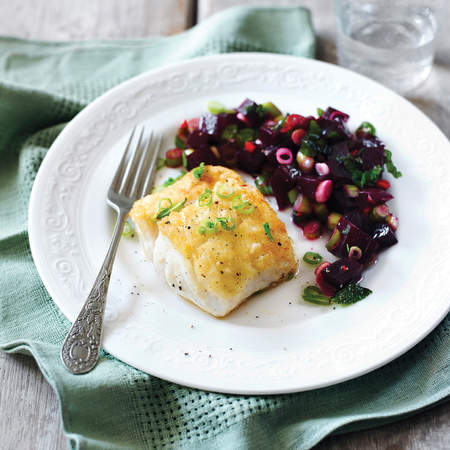 Pan-fried Fish with Beetroot Salsa recipe