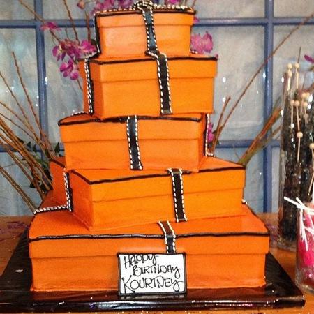 Kardashian Hermes birthday cake