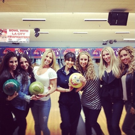 Kardashians go bowling for Kourtney's 34th birthday