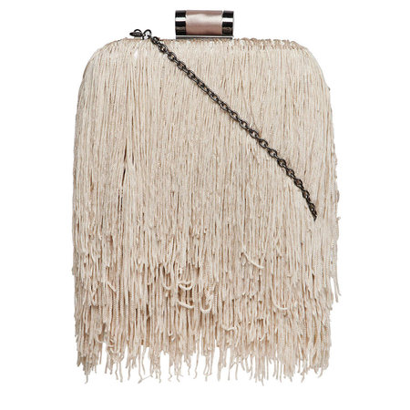 Kardashian Kollection fringed clutch bag
