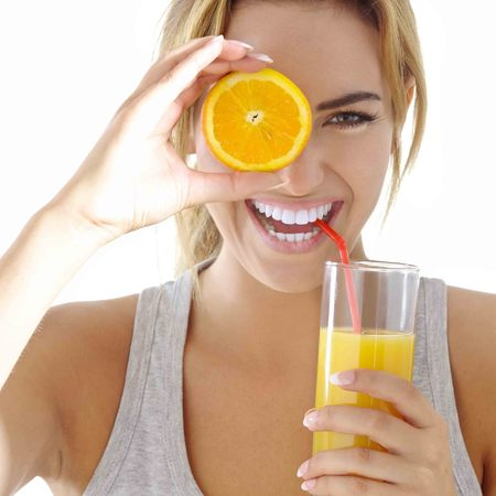 Orange juice, Vitamin C, health, skin