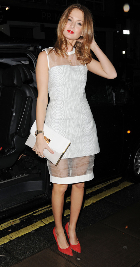 Millie Mackintosh in sheer detail dress