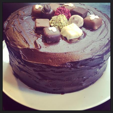 Fearne's chocolate truffle cake