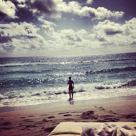 Caroline Flack on holiday in Miami
