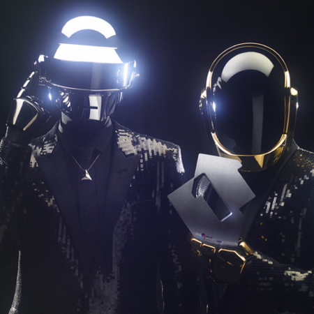 Daft Punk celebrate number one single