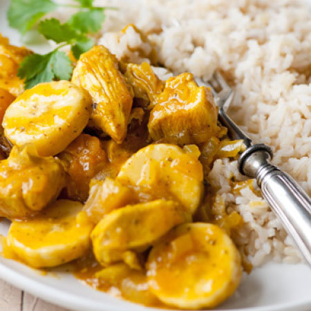 Healthy chicken korma