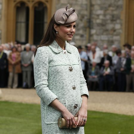 Kate Middleton wears mint Mulberry coat at Windsor Castle